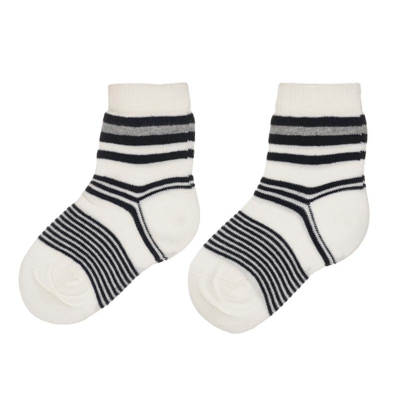 Чорапи в бяло и черно райе за бебе  245564