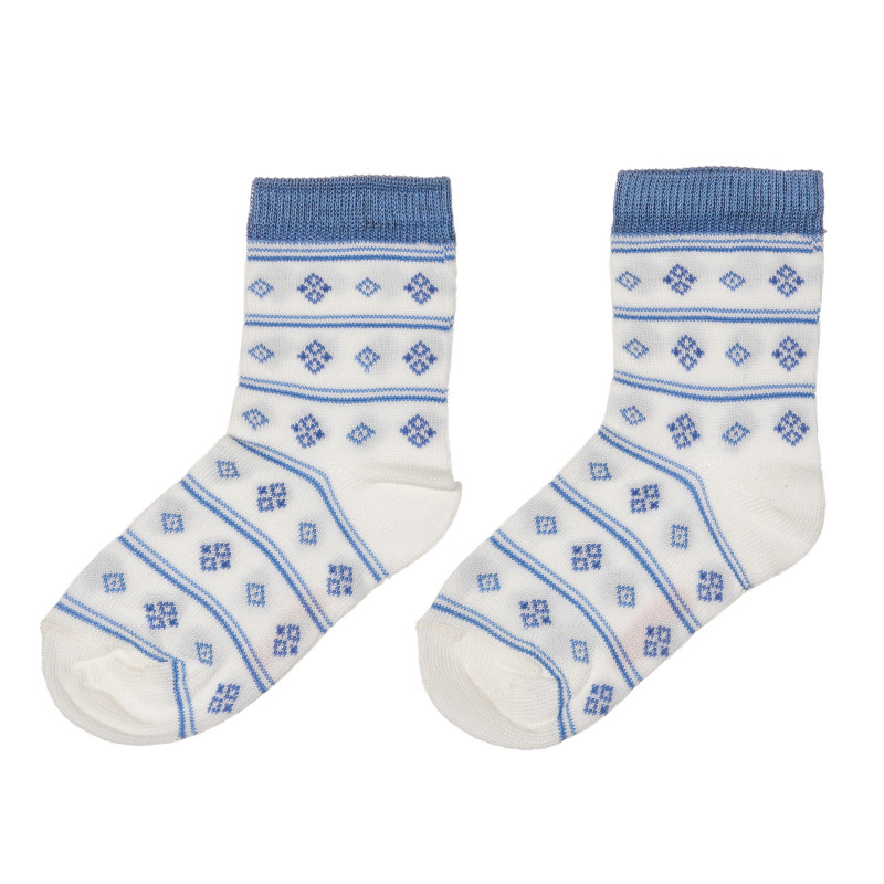 Чорапи с фигурален принт за бебе, бели  245566