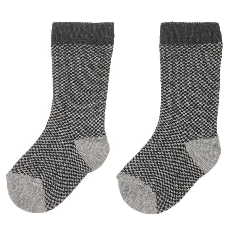 Чорапи в сиво каре за бебе  245576