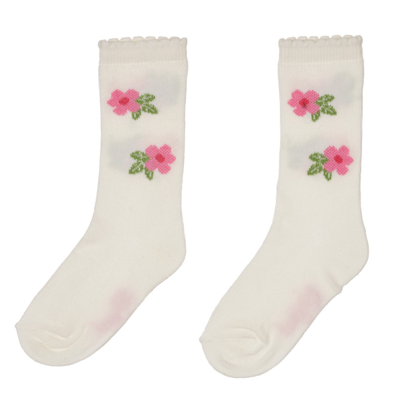 Чорапи за бебе с флорални мотиви, бежови  245580