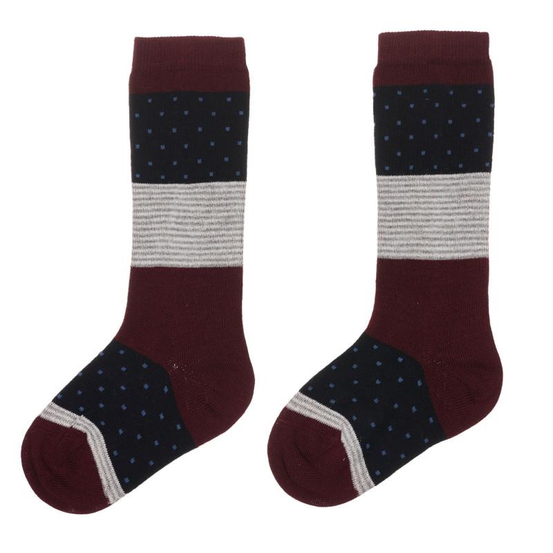 Чорапи с 3/4 дължина, многоцветни  245584