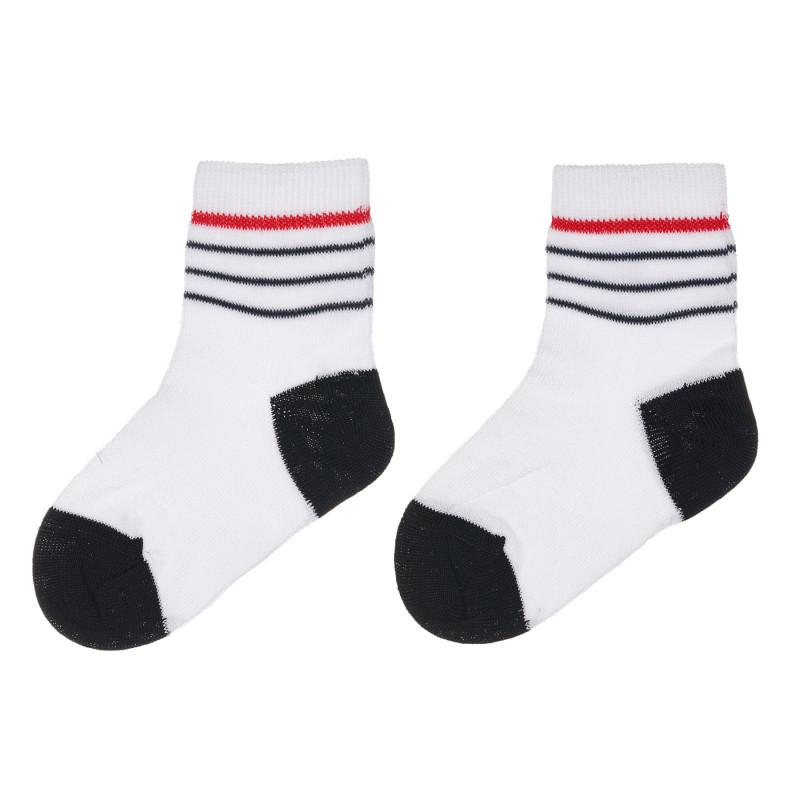 Чорапи с черни акценти за бебе, бели  245601