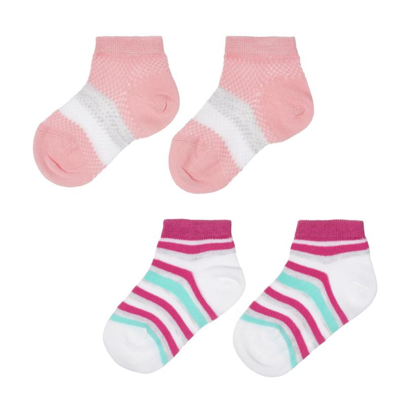 Комплект от два чифта раирани чорапи за бебе  245662
