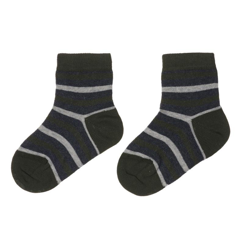 Комплект от два чифта чорапи в сиво и синьо  245663