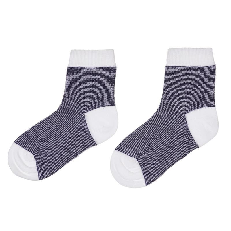 Чорапи в бяло и синьо райе  245669