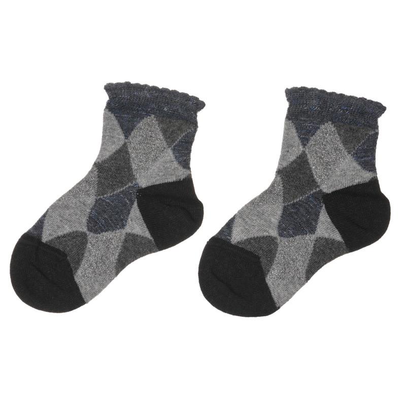 Памучни чорапи с блестящи нишки  245690