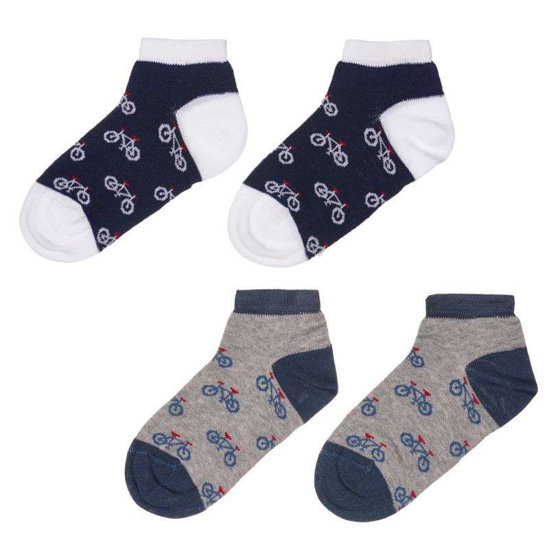 Чорапи за бебе в зелено и синьо райе  245695