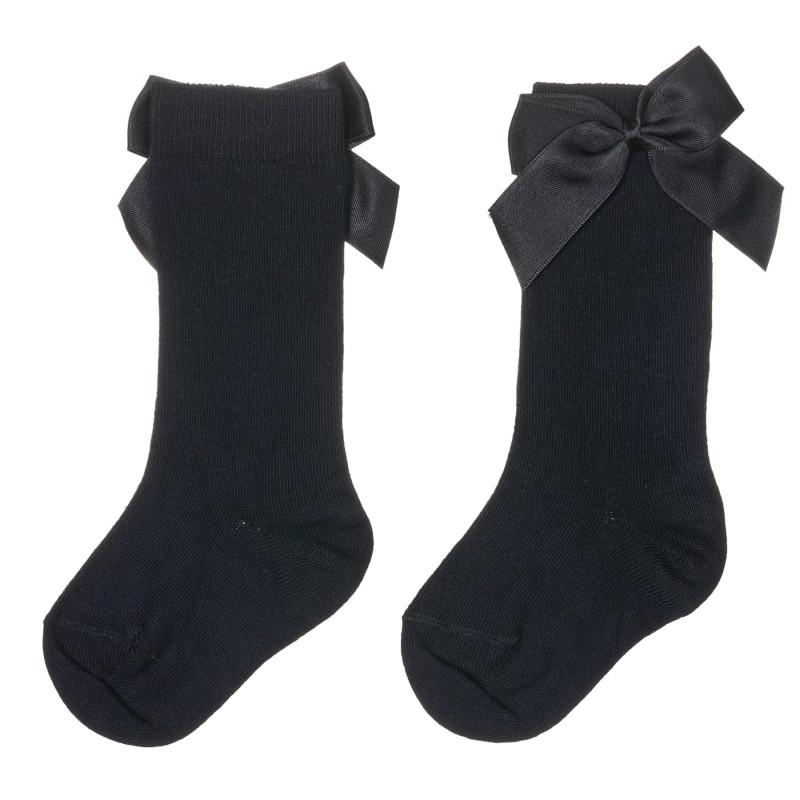 Памучни чорапи с панделки за бебе, черни  245702