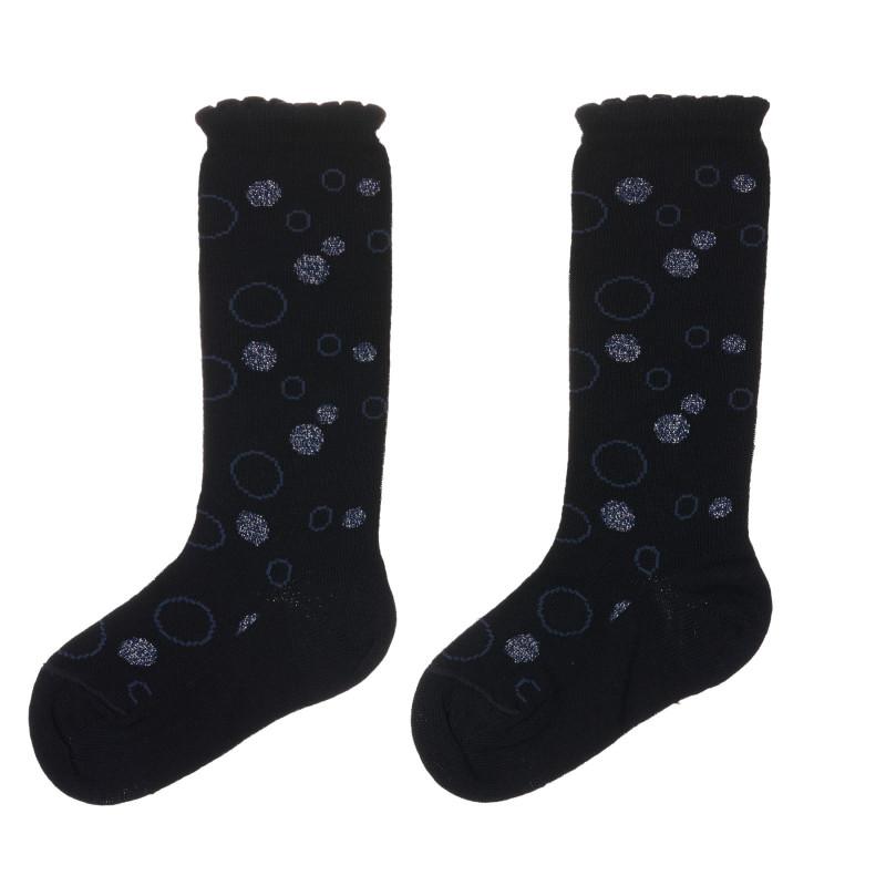 Чорапи с фигурален принт за бебе, черни  245714