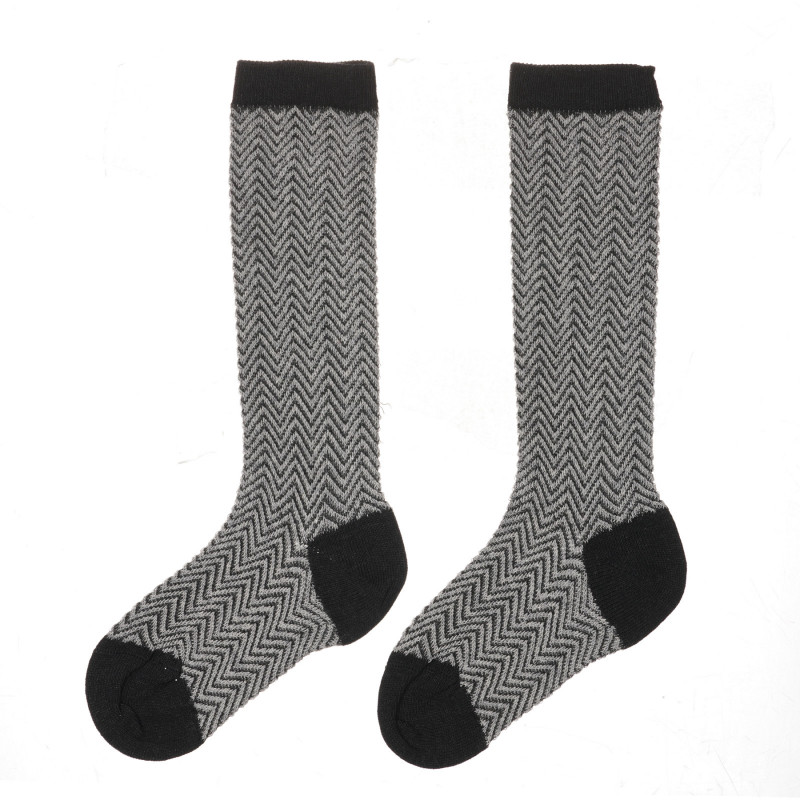 Чорапи с фигурален принт, сиви  245745