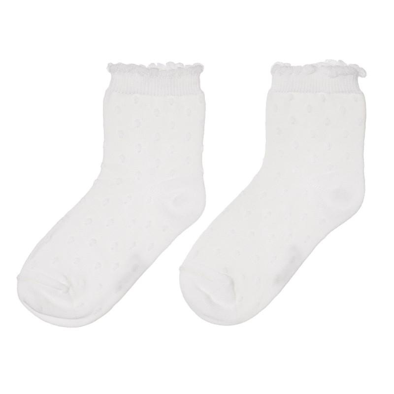 Чорапи с релефни точки, бели  245762