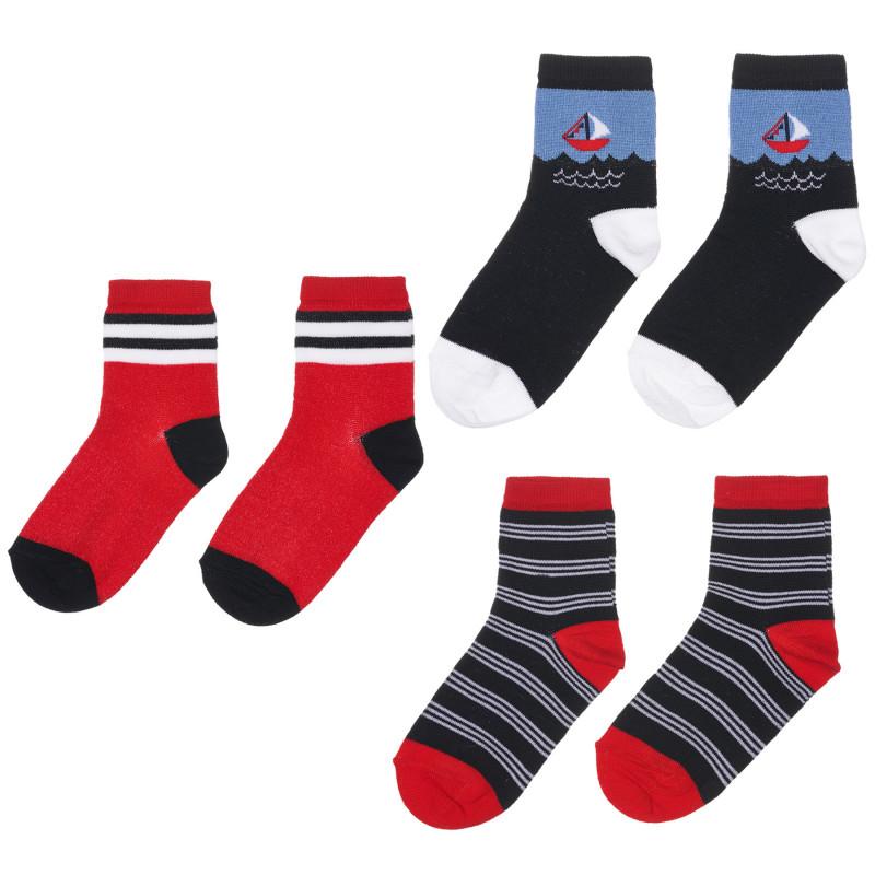 Комплект от три чифта чорапи, многоцветни  245802