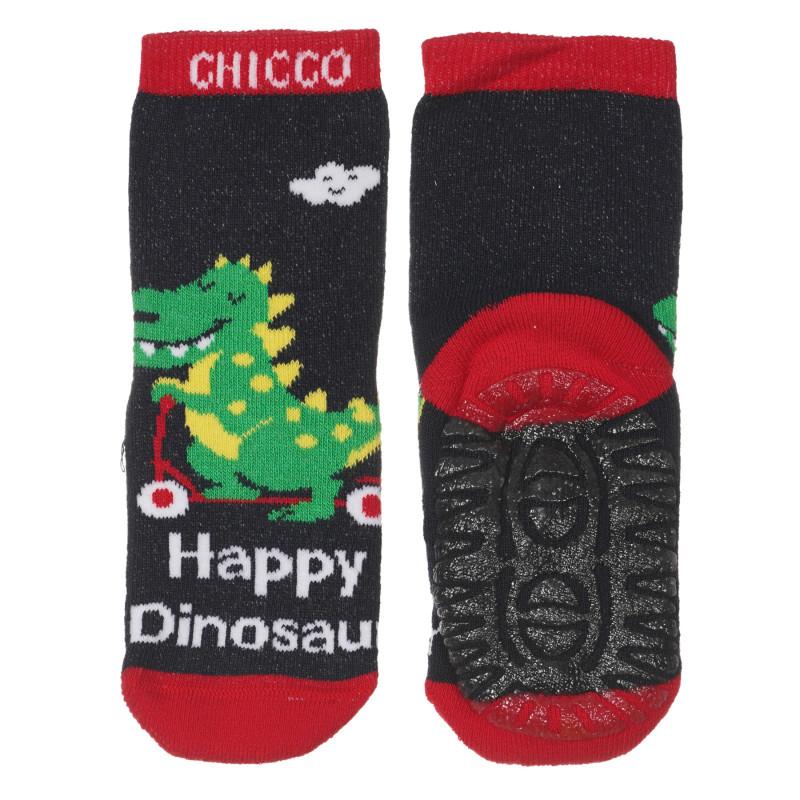 Чорапи Happy Dinosaur за бебе, тъмно сини  245823