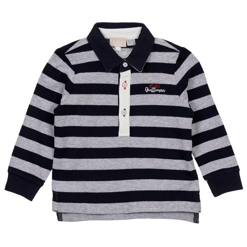 Памучна раирана блуза за бебе, многоцветна  246033