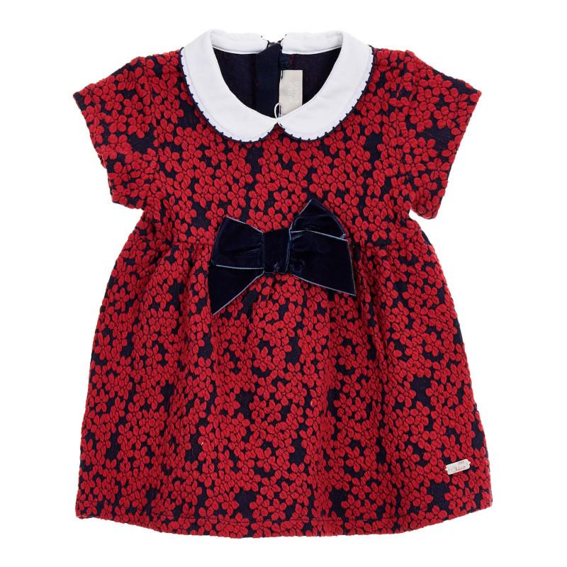 Рокля с флорален принт за бебе, червена  246037