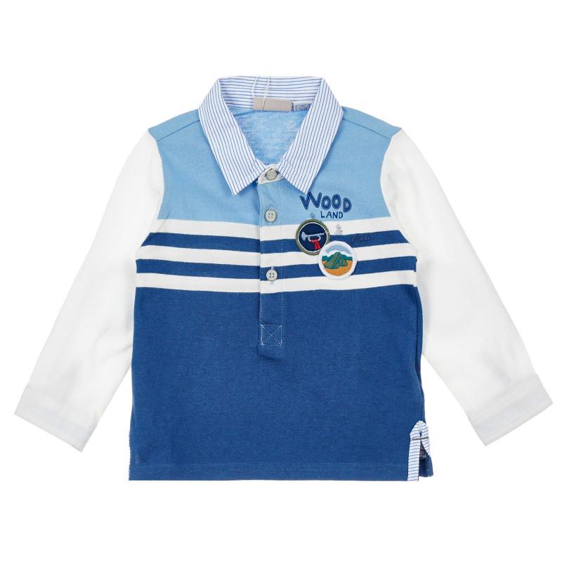 Памучна блуза за бебе, синя  246286