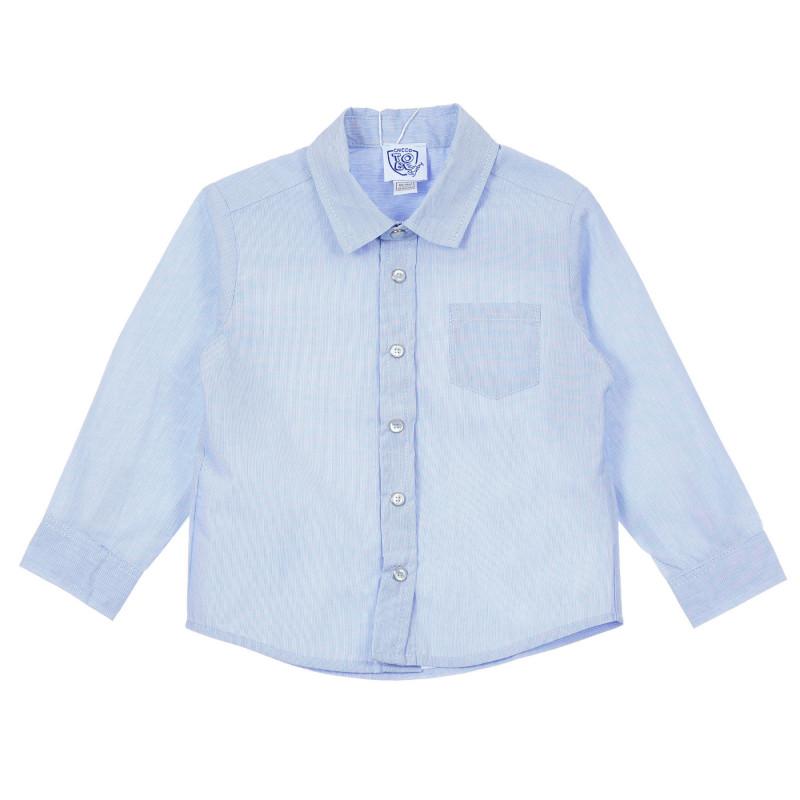 Памучна риза за бебе, синя  246290