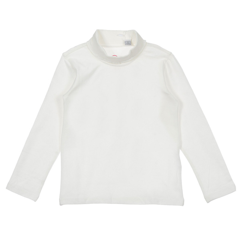 Памучна блуза тип поло за бебе, бяла  246322