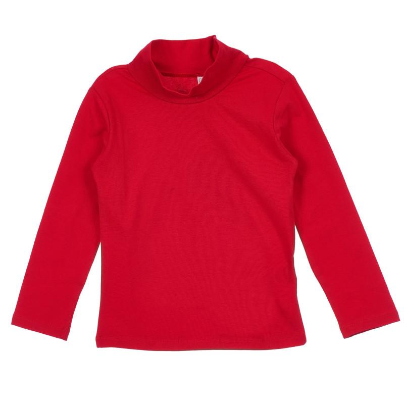 Памучна блуза тип поло за бебе, червена  246437