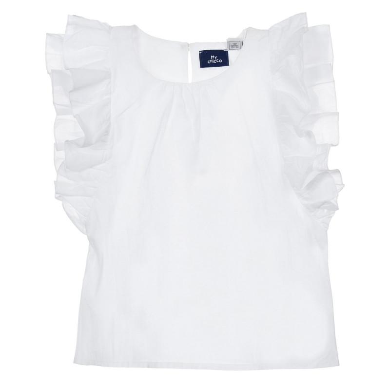 Памучна блуза за бебе, бяла  246484