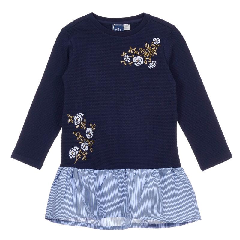 Памучна рокля Roses зa бебе, синя  246492