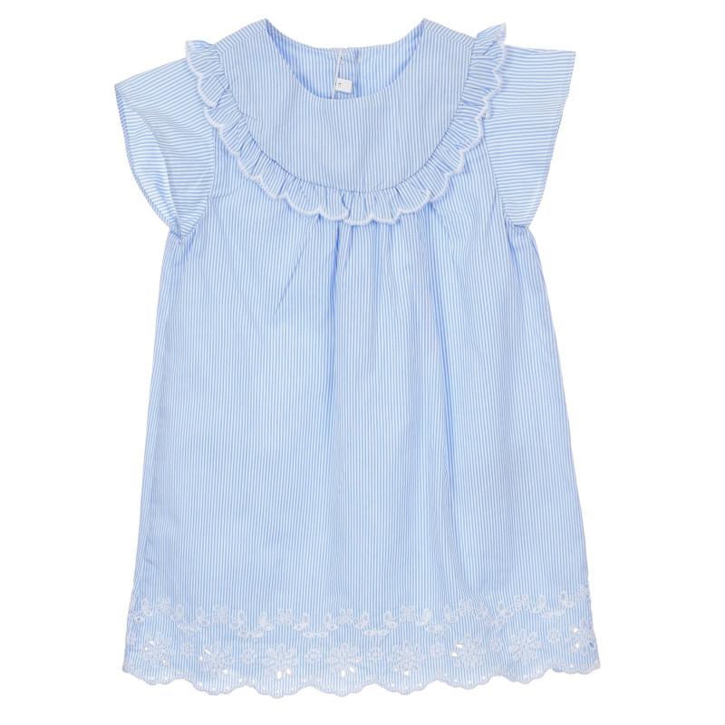 Памучна раирана рокля за бебе  246540