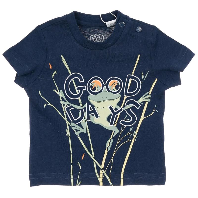 Памучна тениска Good days за бебе, синя  246544