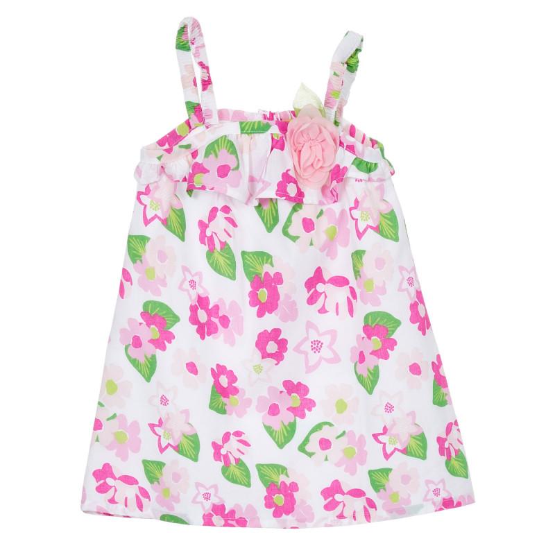 Памучна рокля на цветя за бебе, многоцветна  246548