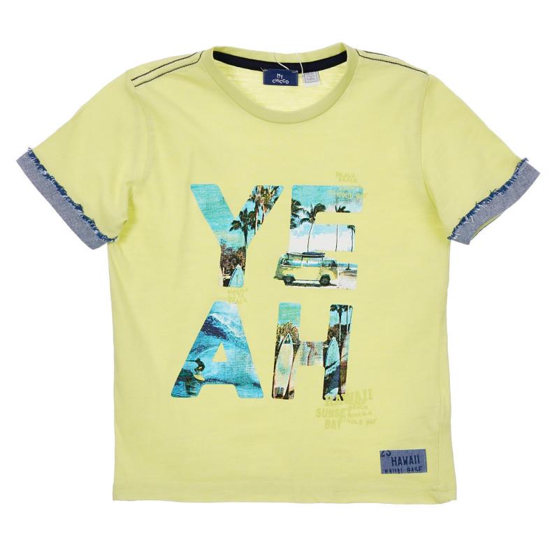 Памучна тениска за бебе, зелена  246552