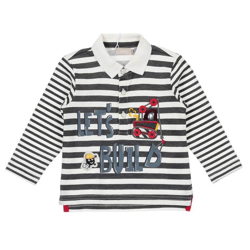Памучна блуза в райе за бебе, многоцветна  246580