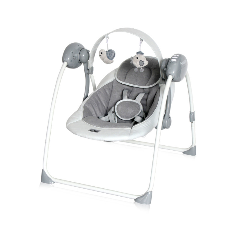 Електрическа люлка Portofino Cool Grey Stars, цвят: Сив  246618