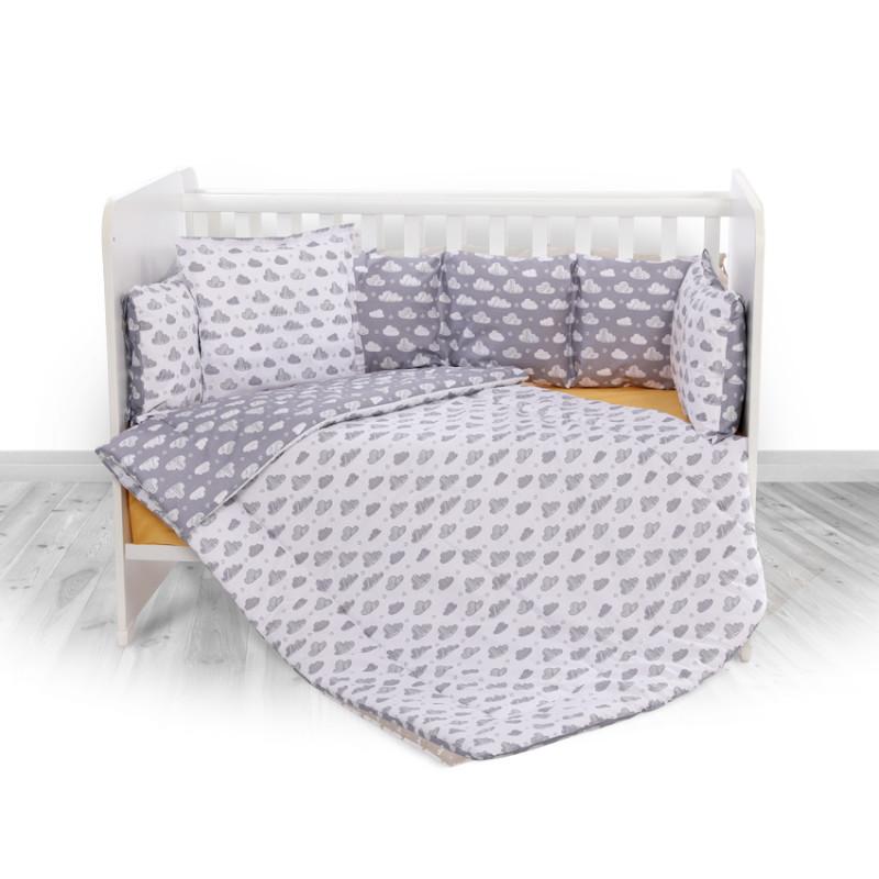 Спален комплект 4 части Lily Облаци, сиво  246734