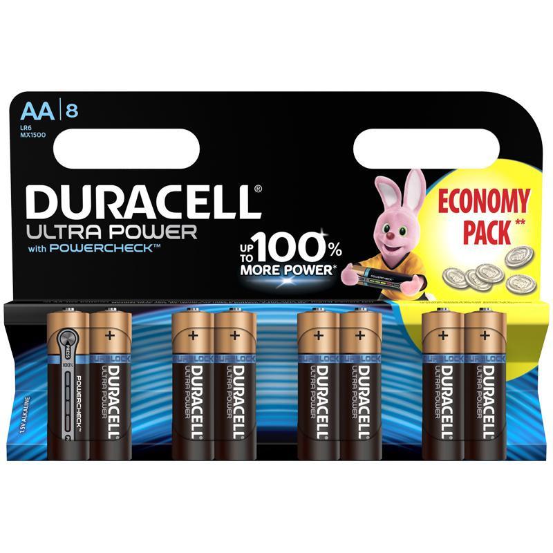Батерии Ultra Power, АА, LR6, 8 бр.  246752