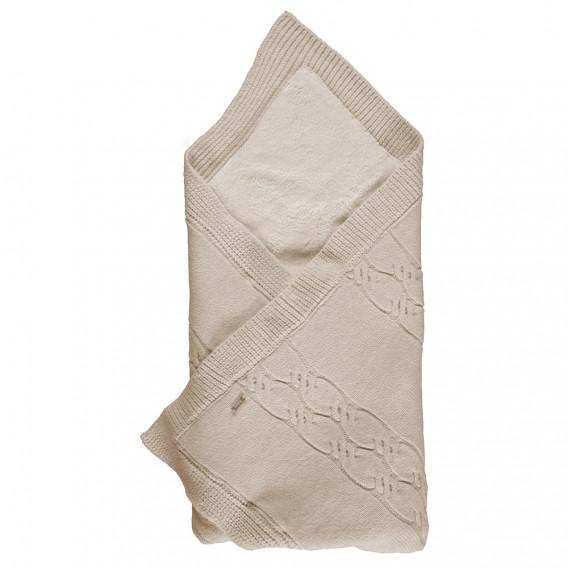 Плетено унисекс одеяло за бебе Bebetto 2509 1