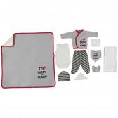 Комплект за изписване на бебе от 10 части - унисекс Bebetto 2515