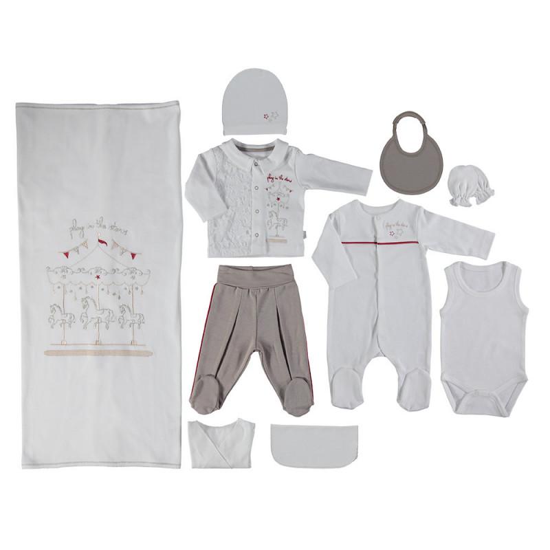 Комплект за изписване  за бебе момче от 10 части  2529
