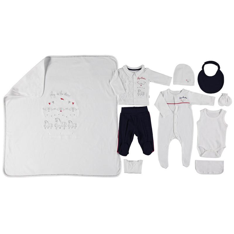 Комплект за изписване на бебе момче от 10 части  2530