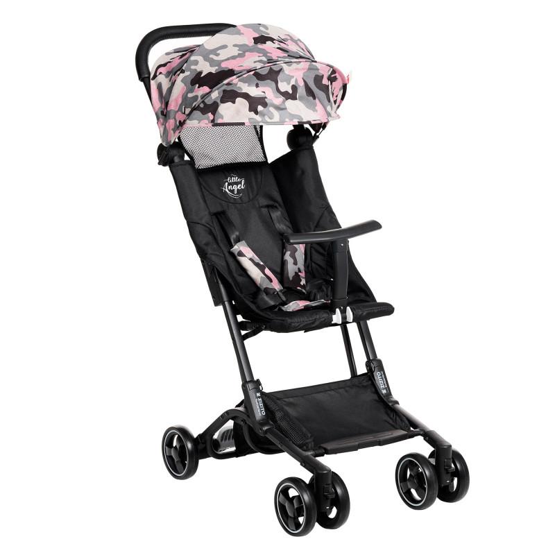 Лятна бебешка количка Luka, черна с камуфлаж  253366