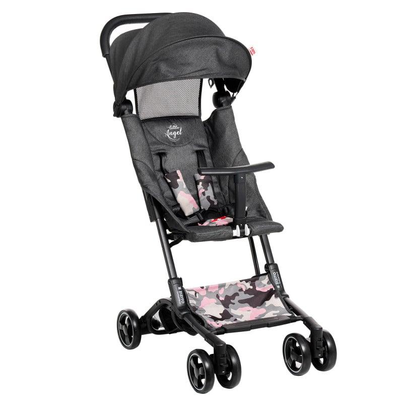 Лятна бебешка количка Luka с покривало за крачета, сива с камуфлаж  253402
