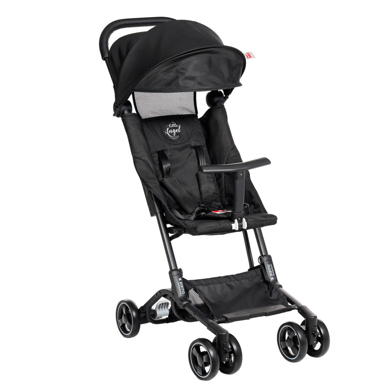 Лятна бебешка количка Luka, черна  253416