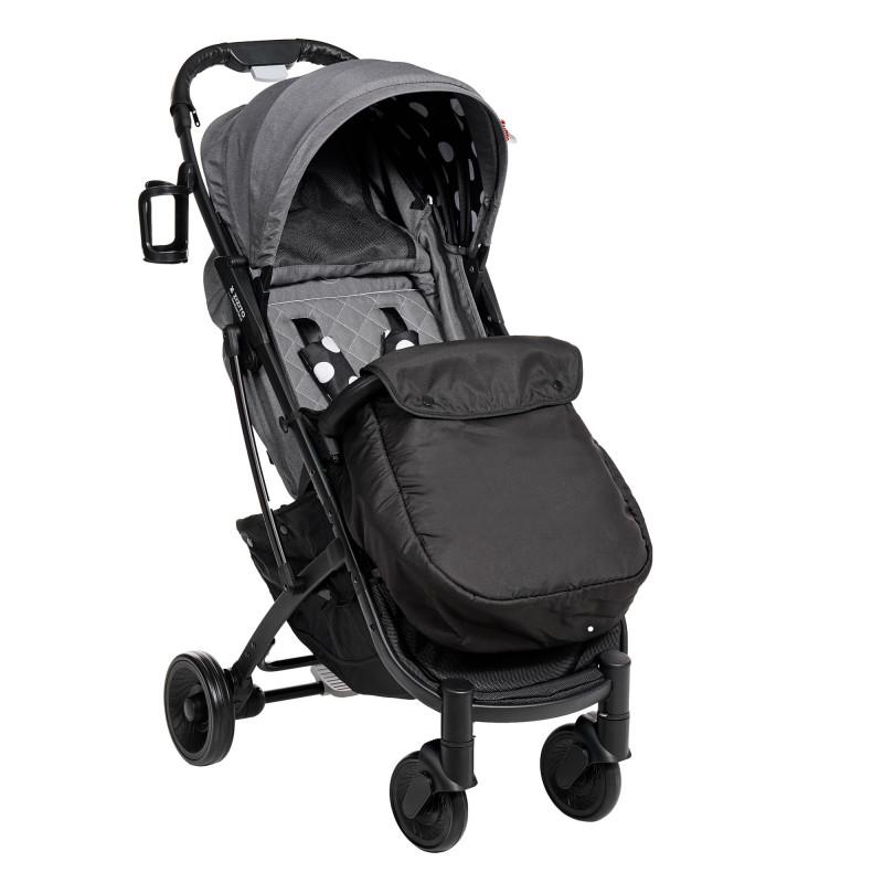 Лятна бебешка количка Sandra с покривало за крачета, с бели точки  253465