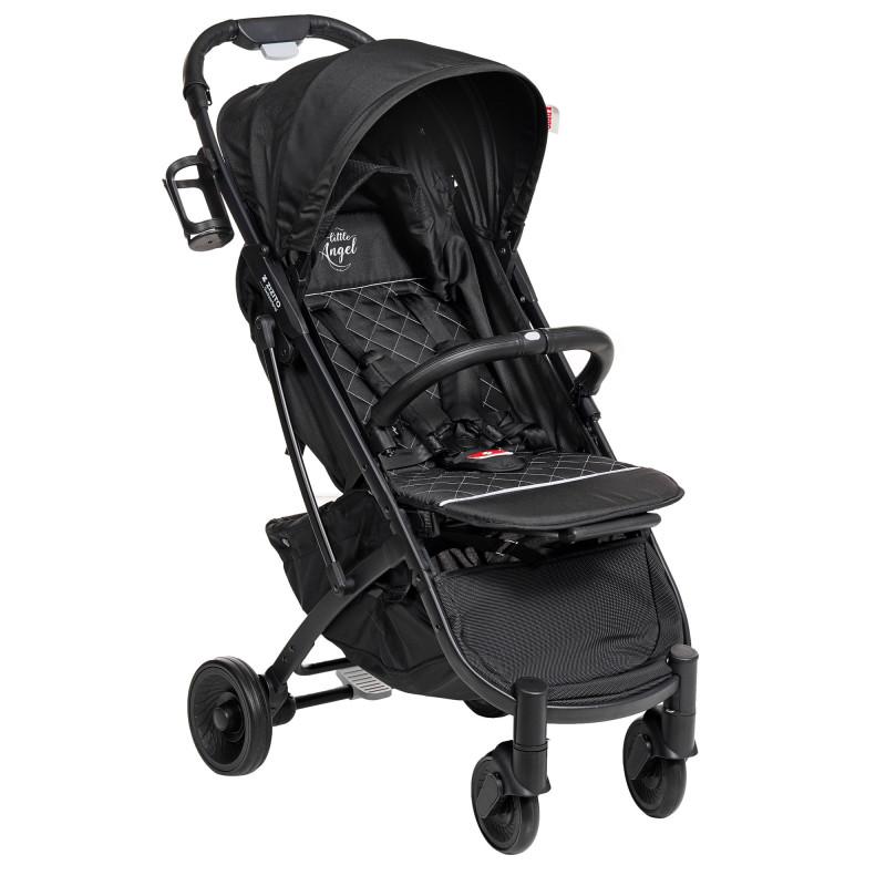 Лятна бебешка количка Sandra, черна  253509