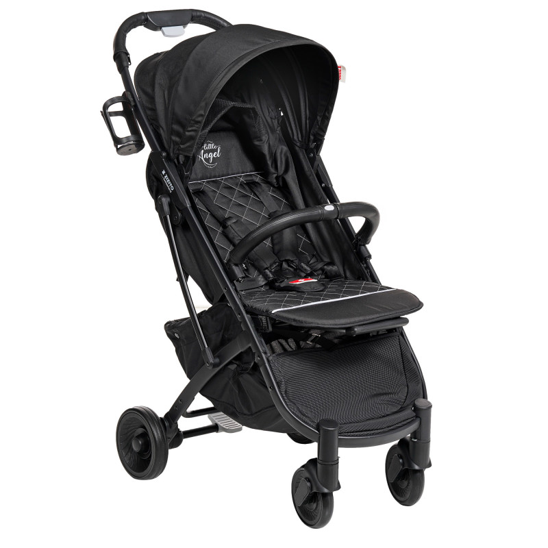 Лятна бебешка количка Sandra с покривало за крачета, черна  253523