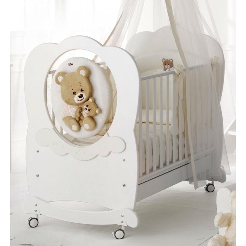Бебешко креватче, Кафяви мечета, 136х82х120 см.  2538