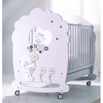 """Дървена кошара - """"мечета и цветя"""" Baby Expert 2539"""