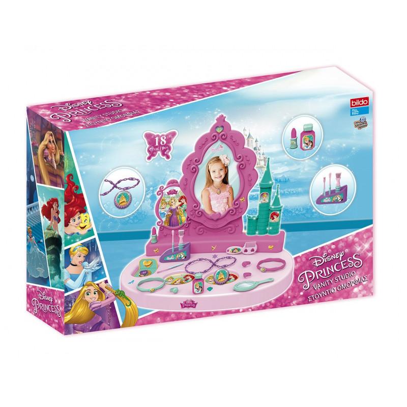 Комплект тоалетка с огледало и аксесоари- принцесите  25505