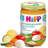 Био пюре вегетарианско меню, 9+ месеца, бурканче 220 гр. Hipp 25548