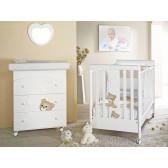 Дървена кошара бяла и бежова Baby Expert 2567