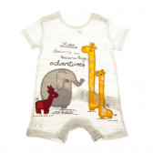 Памучен гащеризон с къс ръкав за бебе момче Boboli 25684