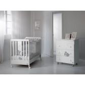 Дървена кошара бяла и сива Baby Expert 2570